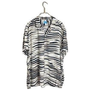 Tasso Elba • Silk Blend Button Down Short-Sleeved Shirt.